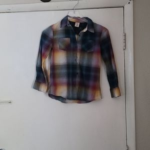 Girl Size M Arizona Plaid Long sleeves Shirt